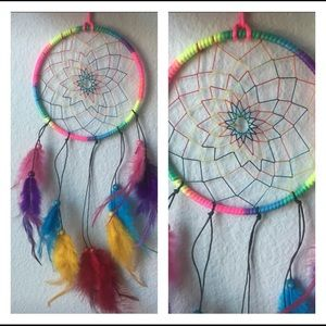 Multi color dream catcher
